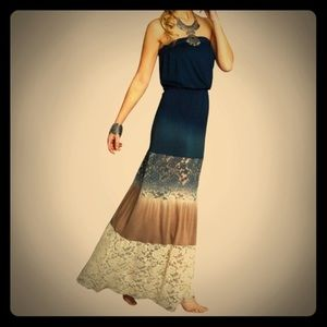 Dresses & Skirts - OMBRÉ Tie Dye & Lace Maxi Dress. M. 🌟EUC🌟